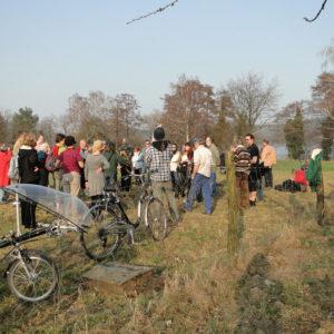 Ackerbegehung – erste Gartenführung (Havelmathen)