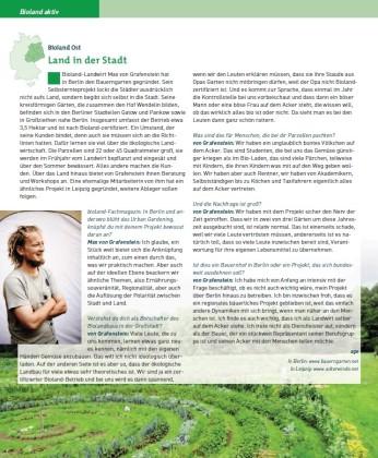 Interview im bioland-Magazin